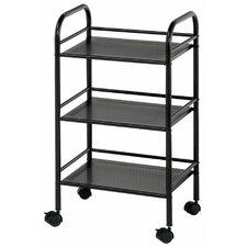 "Storage Cart 29.75"" 3 Shelf Shelving Unit"