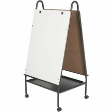 Adjustable Magnetic Double Sided Casters Board Easel