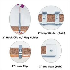 """2"""" Accessories for Map Rail"""