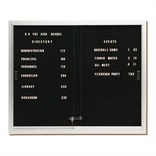 Deluxe Directory Letter Board, 3' H x 4' W