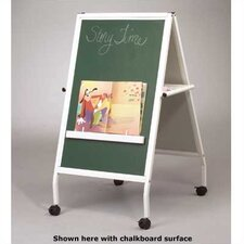 Folding Double Sided Casters Flipchart Easel