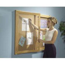 Enclosed Bulletin Board, 3' H x 4' W