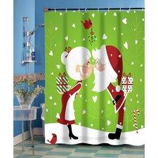 Kissing Claus Shower Curtain