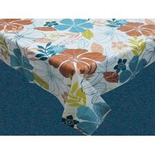 Summer Floral Flannel Backed Tablecloth