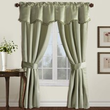 5 Piece Burlington Rod Pocket Curtain Set
