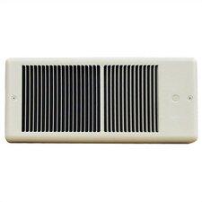 Low Profile 2,000 Watt Wall Insert Electric Fan Heater with Wall Box