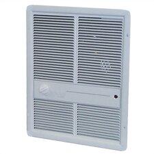 4,800 Watt Wall Insert Electric Fan Heater with Summer Fan Forced Switch