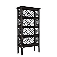 "Chippendale 69"" Etagere Bookcase"