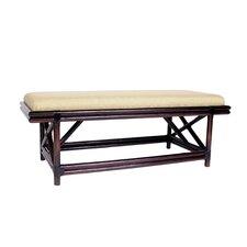 Mikado Rattan Bench