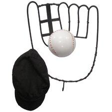 Hall of Fame Baseball Glove Coat Rack with Ball