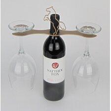 Laser Cut Steel Stall 1 Bottle Tabletop Wine Rack