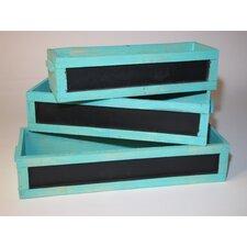 3 Piece Rectangular Window Box Planter Set