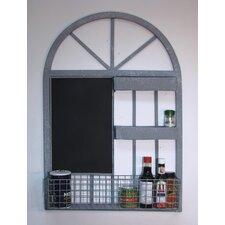 Arch Window Wall Organizer Wall Mounted Chalkboard, 3' H x 2' W