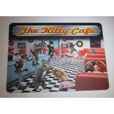 Kitty Cafe Cat Placemat for Your Cat's Food and Water Bowl