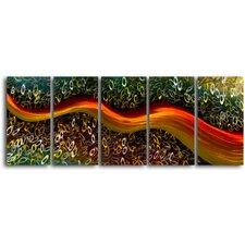 Satin Riverlet Through O's 5 Piece Graphic Art Plaque Set