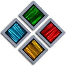 4 Piece Elemental Palette Wall Décor