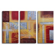 Conducting 3 Piece Wrapped Canvas Art Set