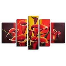 Mexican Fiesta! 5 Piece Original Painting on Wrapped Canvas Set