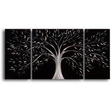 Moonlit Gothic Tree 3 Piece Graphic Art Plaque Set