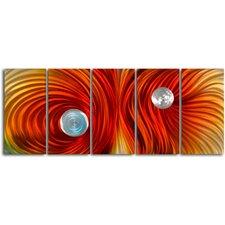 Eyes on Satin Twister 5 Piece Graphic Art Plaque Set