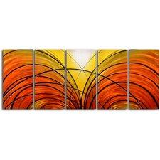 Twin Cornucopia 5 Piece Graphic Art Plaque Set