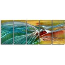 Push and Pull 5 Piece Graphic Art Plaque Set