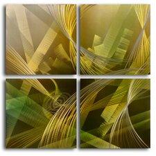 Modern Tropicals 4 Piece Graphic Art Plaque Set