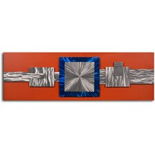'Dimensional Metal Geometrics' Original Painting on Wrapped Canvas