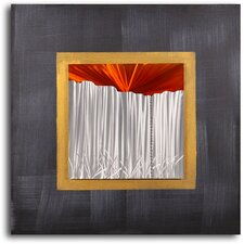 'Sunset over Corrugated Fence' Original Painting on Wrapped Canvas