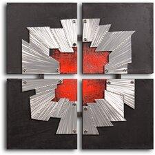 'Beaten Tin Window Frame' Original Painting on Wrapped Canvas