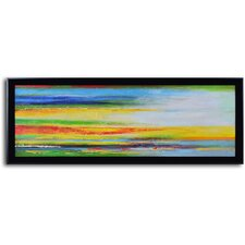 'Color Strategy Canvas' Framed Original Painting on Canvas