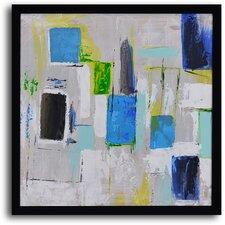 'City Windows' Framed Original Painting on Canvas