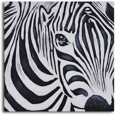 'Zebra Perspective' Original Painting on Wrapped Canvas