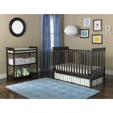 6 Piece 3-in-1 Convertible Crib Set with Mattress