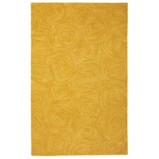 Paint The Town Dijon Swirling Yellow Area Rug