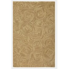 Paint The Town Driftwood Swirling Beige Area Rug