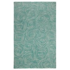 Paint The Town Lake Swirling Blue Area Rug