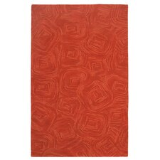 Paint The Town Newport Red Swirling Area Rug
