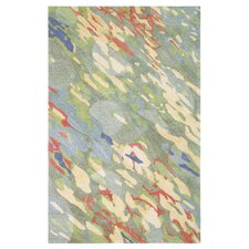 Reflections Hand-Tufted Blue/Green Indoor Area Rug