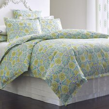 Painted Medallions Lake Duvet Cover