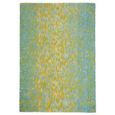 Leopard Aqua Striped Area Rug