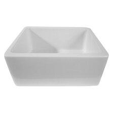 "24"" x 18.13"" Single Bowl Thick Fireclay Farmhouse Kitchen Sink"