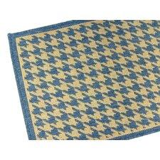 Houndstooth Blue Geometric Indoor/Outdoor Area Rug