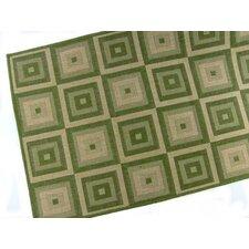 Pyramid Blocks Emerald Indoor/Outdoor Area Rug