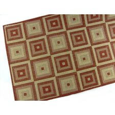Pyramid Blocks Terracotta Indoor/Outdoor Area Rug