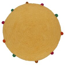Powder Puff Accent Gold/Yellow Area Rug
