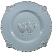 """12"""" Embossed Rooster Salad Plate"""