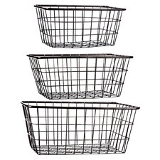 3 Piece Storage Basket Set