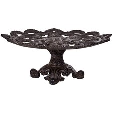 "Cast Iron 14"" Footed Cake Plate"