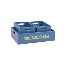 3 Piece Orchard Nest Wood Box Set